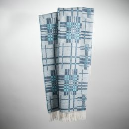 Art. Patch Wool-Blend Blanket with fringes