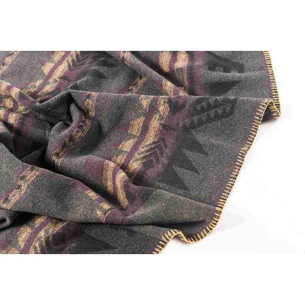 Plaid art. Navajo misto lana bordato