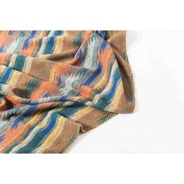 Art. Cherokee Wool Blend edged blanket