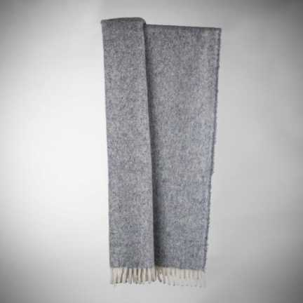 Plaid art.Turbo lana alpaca con frange