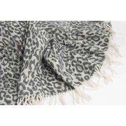 Plaid art. Maculato misto lana con frange