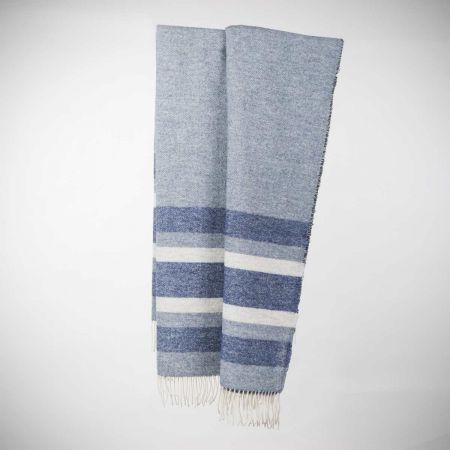 Plaid art.Stripes misto lana con frange