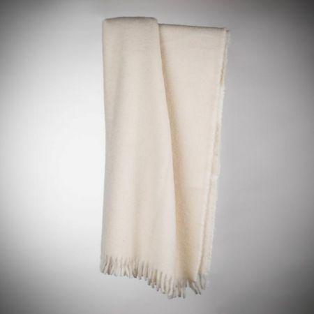Blanket art.Turbo alpaca wool with fringes