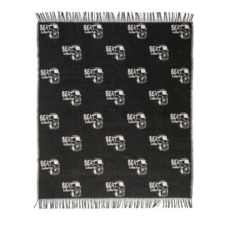 Art. Beat Wool Blend Blanket with fringes