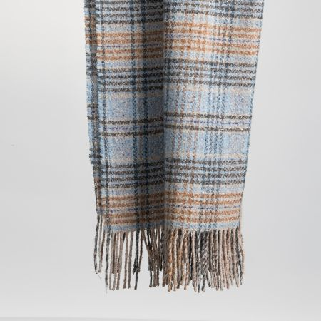 Art. Ken Tweed Blanket with fringes