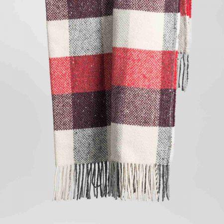 Art. Dama Tweed Blanket with fringes