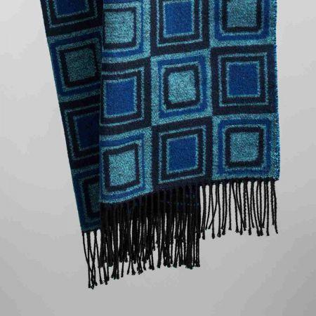 Coperta art. Square misto lana con frange
