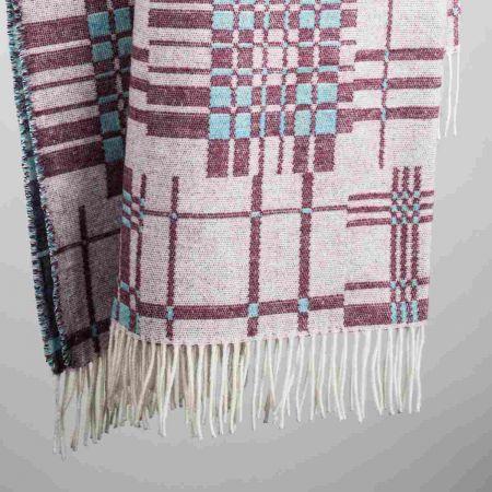 Coperte art. Patch misto lana con frange