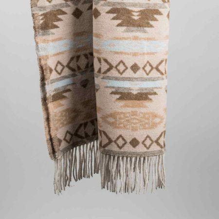 Plaid art. Sioux misto lana con frange