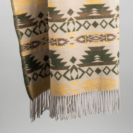 Plaid art. Sioux misto lana con frange