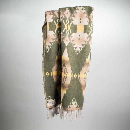 Plaid art. Apache misto lana con frange