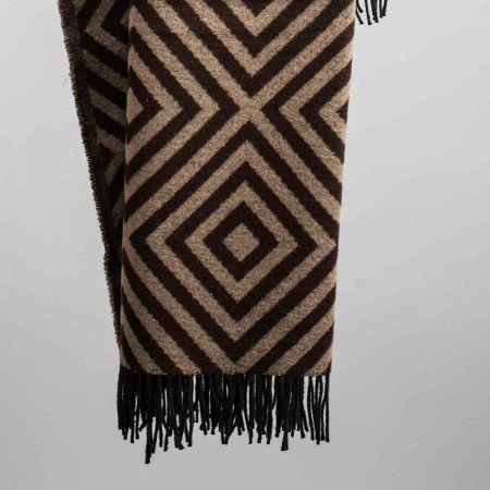Plaid art. Lennon misto lana con frange