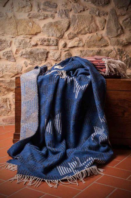 Art. Prisma Wool-Blend Blanket with fringes
