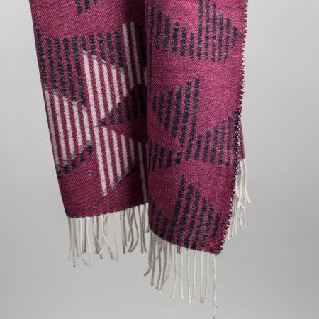 Art. Prisma Wool-Blend Blanket with fringes