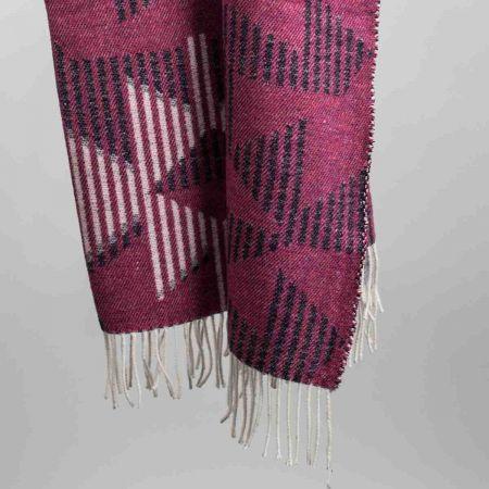 Plaid art. Prisma misto lana con frange