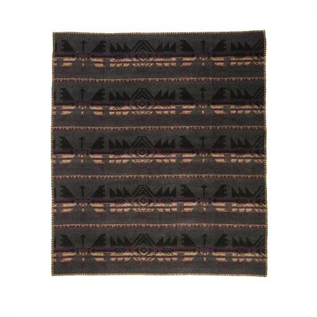 Art. Navajo Wool Blend edged blanket