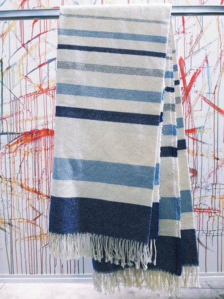 Plaid Canvas cotone con frange