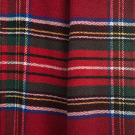 Art.Tartan Wool-Blend Blanket with fringes