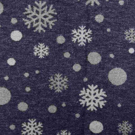 Art. Snowflake Wool-Blend Blanket with fringes